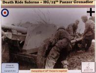 Board Game: Death Ride Salerno: Herman Goring/15th Panzer Grenadier