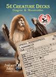 RPG Item: 5e Creature Decks: Dragons & Monstrosities