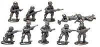 Board Game Accessory: Warfighter: The WWII Tactical Combat Card Game – Expansion #14: USA Metal Soldier Miniatures