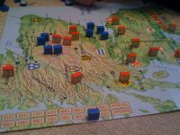 Early on in the game, two pockets of Scottish rebellion consolidate in the north
