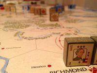 As the war begins, Jefferson Davis looks quite worried in Richmond