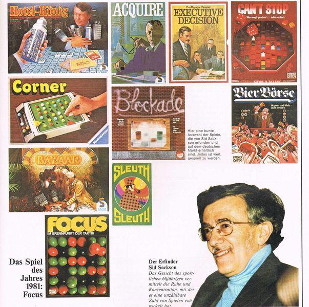 Sid Sackson - Spielbox magazine 1982
