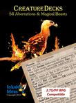 RPG Item: Creature Decks: 54 Aberrations & Magical Beasts (Pathfinder)