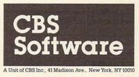 Video Game Publisher: CBS Electronics