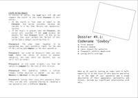 "RPG Item: Dossier #X.1: Codename ""Cowboy"""