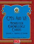 RPG Item: GM's Aid VI: Monster Knowledge Cards Volume 4—Animals & Vermin