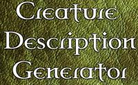 Series: Creature Description Generator