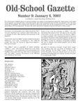 Issue: Old-School Gazette (Issue 9 - Jan 2007)