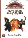 RPG Item: Dark Sun: Monstrous Compendium, Appendix II, Terrors Beyond Tyr