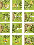 Board Game: Circles in the Forest (fan expansion for Carcassonne)