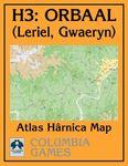 RPG Item: Atlas Hârnica Map H3: Orbaal (Leriel, Gwaeryn)
