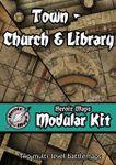 RPG Item: Heroic Maps Modular Kit: Town - Church & Library