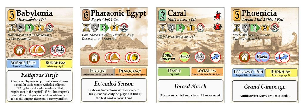Board Game: History of Civilizations