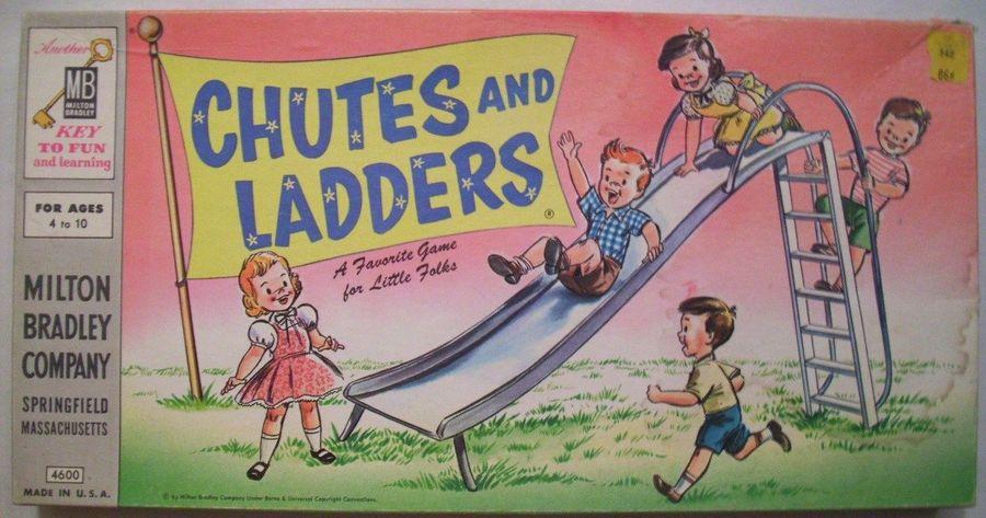 1956 MB Chutes & Ladders Box Front