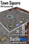 "RPG Item: Town Square 36"" x 24"" RPG Encounter Map"