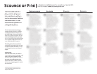 RPG Item: Backstory Cards: Scourge of Fire