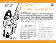 RPG Item: A Dozen Unusual Materials