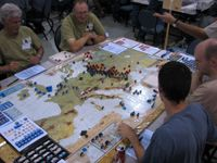 September 2006, Final Beta Tests at Calgary FallCon.  Craig Besinque is on the far left.