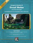 RPG Item: Dread Shelan and the Sahuagin