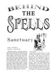 RPG Item: Behind the Spells: Sanctuary