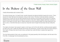 RPG Item: Tales of Entropy: In the Shadow of the Great Wall