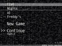 Video Game: Five Nights At Freddy's