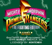 Video Game: Mighty Morphin Power Rangers: The Fighting Edition