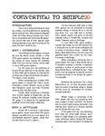 RPG Item: Converting to Simple20