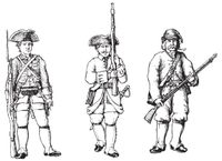 Types of military units depicted in the rulebook