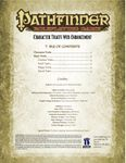 RPG Item: Pathfinder Roleplaying Game Character Traits Web Enhancement