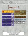 Issue: Rule One (Issue 1 - Aug 2009)