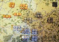 HISTORICAL SET UP: This is for a solo game ignoring the maximum of four Allied blocks per town. These were the actual dispositions. (4th Edition, Patrick).