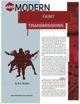 RPG Item: Faint Transmissions