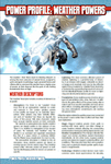 RPG Item: Power Profile #06: Weather Powers