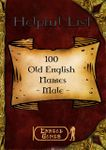 RPG Item: 100 Old English Names - Male