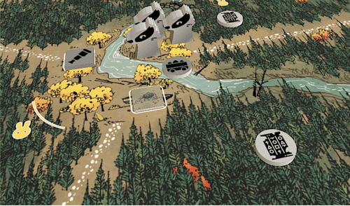 Badger faction in Tabletop Simulator. (Assets are not final.)