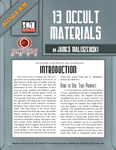 RPG Item: Modern: 13 Occult Materials