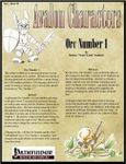 RPG Item: Avalon Characters Vol. 1, Issue #04: Orc Number 1