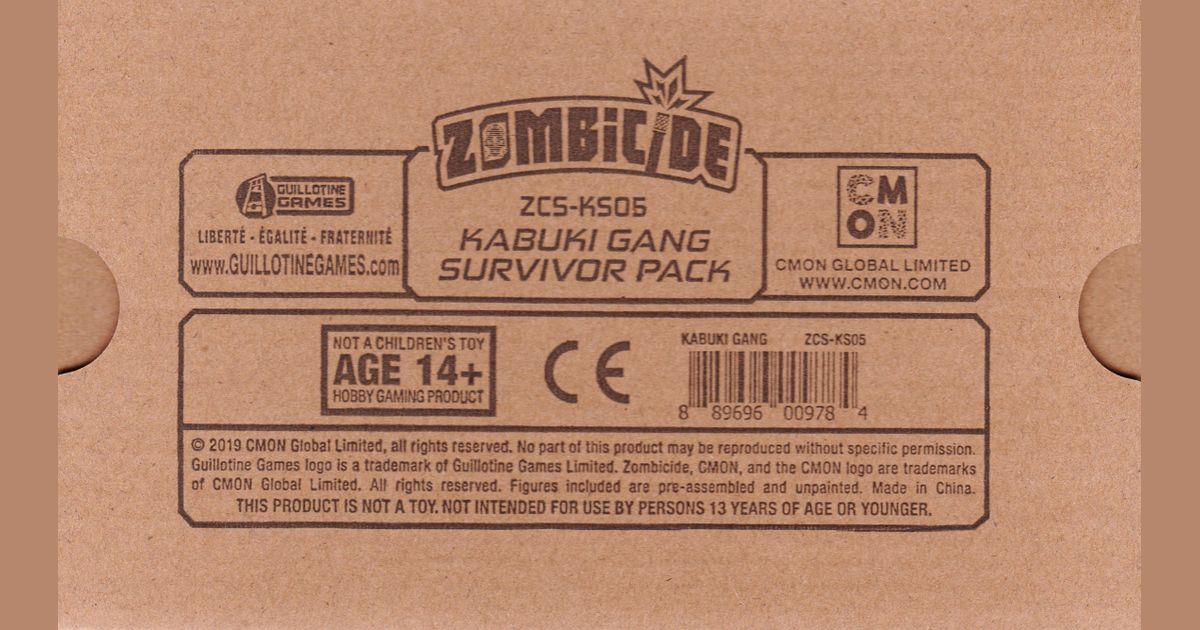 Zombicide: Invader Kickstarter Exclusive Kabuki Gang Samon w//card