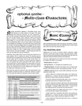 RPG Item: Optional Goodie: Multi-Class Characters