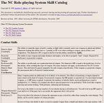 RPG Item: The NC Skill Catalog