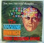 Board Game: The Amazing Dunninger Mind Reading Game