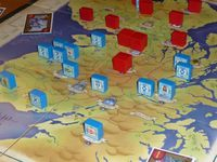 Close-up of the English army during a gaming session at Spelgroep Phoenix.