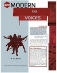 RPG Item: Far Voices