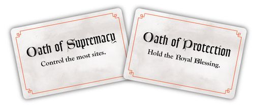 Prototype cards for the Oath of Supremacy and the Oath of Protection