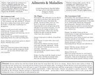 RPG Item: Ailments & Maladies