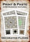 RPG Item: Print & Paste 2.5D Dungeon Textures: Decorative Floors