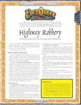 RPG Item: Highway Robbery
