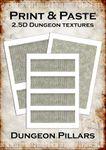 RPG Item: Print & Paste 2.5D Dungeon Textures: Pillars