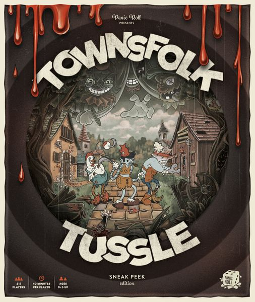 Townsfolk Tussle Box Art - Sneak Peek edition